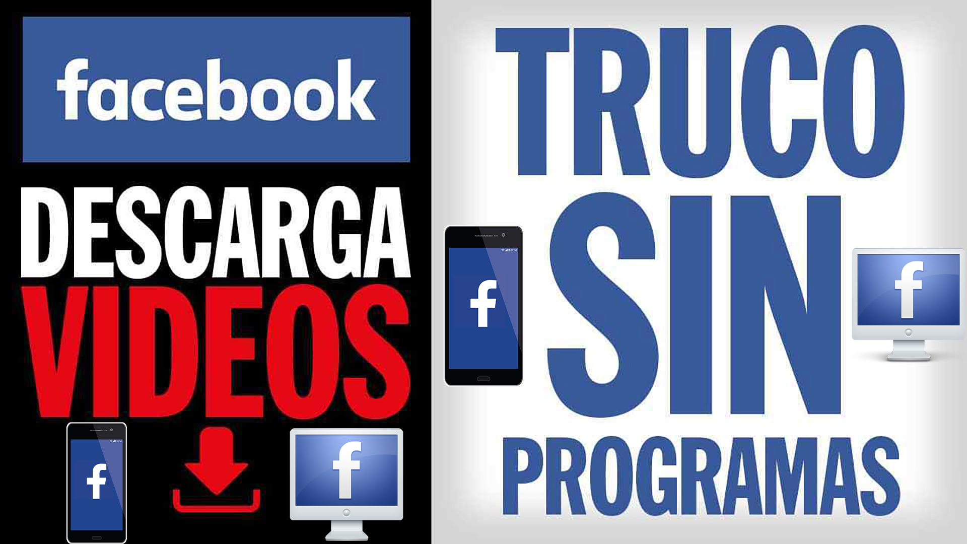 DESCARGAR VIDEOS DE FACEBOOK | ANDROID / PC | Sin Instalar Nada