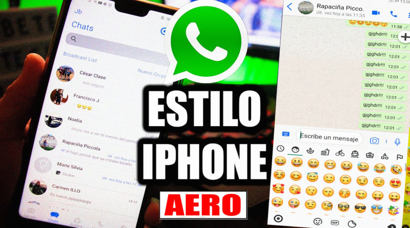 WHATSAPP ESTILO IOS EN ANDROID