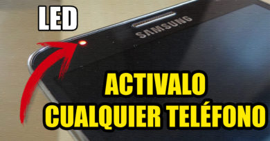 activar led de notificaciones