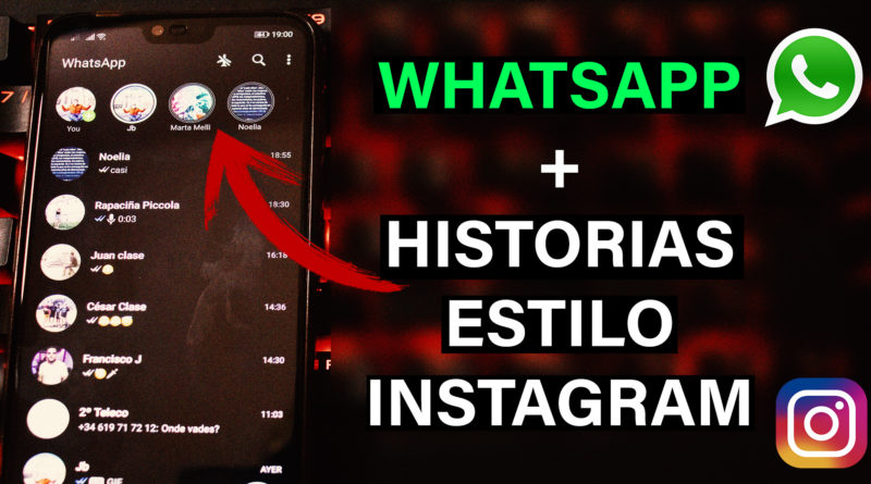 whatsapp estilo instagram