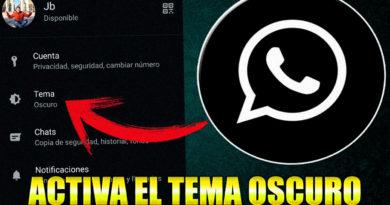 activar whatsapp oscuro