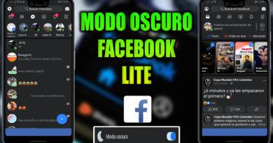 FACEBOOK LITE MODO OSCURO