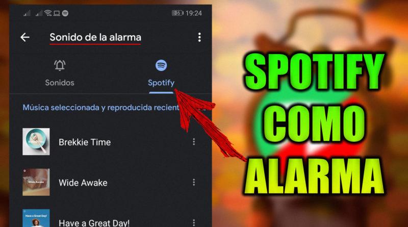 despertador con musica de spotify