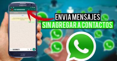 SIN AGREGAR CONTACTO whatsapp